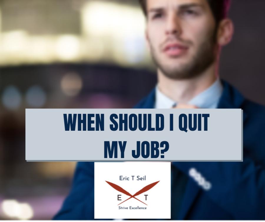 When should I quit my job?- Main