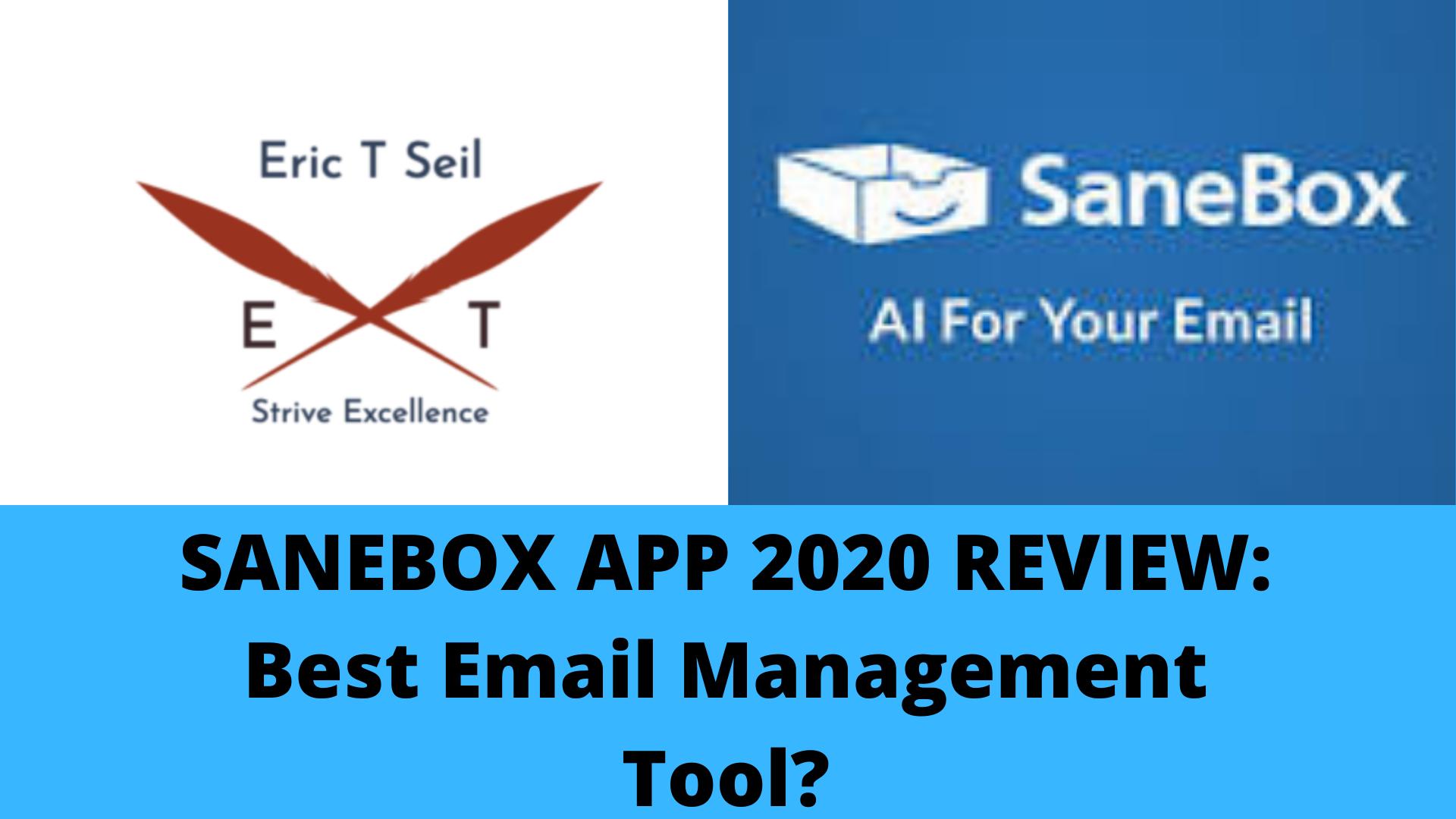 Sanebox app- Main