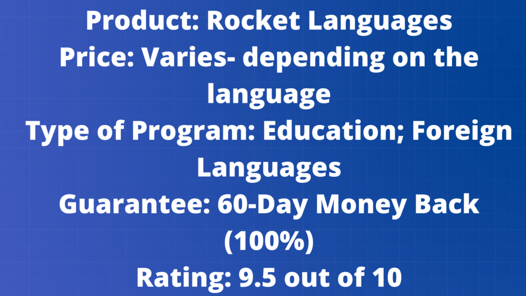 Rocket Language Program Cover