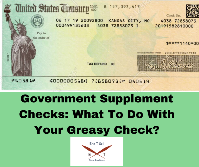 Government supplement checks- Main cover