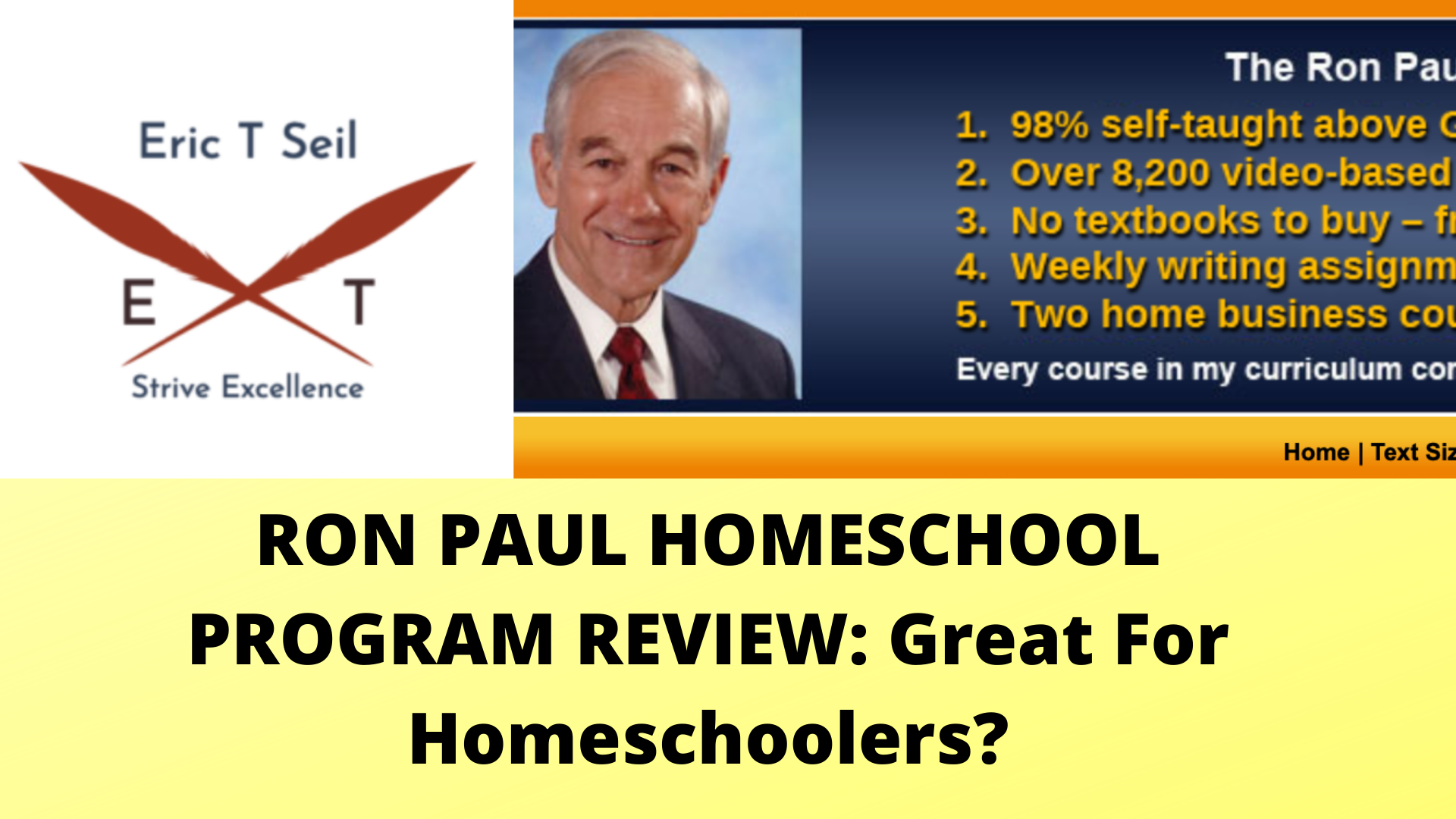 Ron Paul Homeschool Program- Main