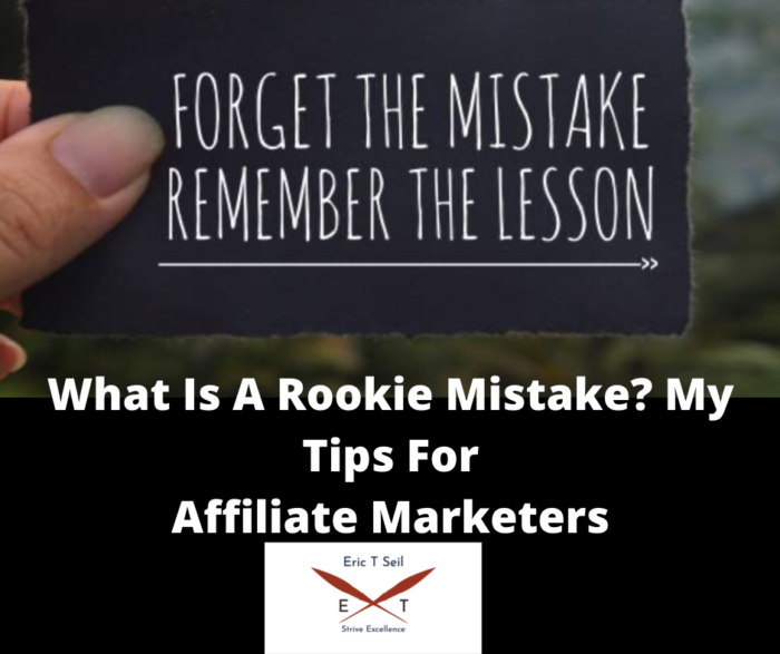 What is a rookie mistake- Main cover