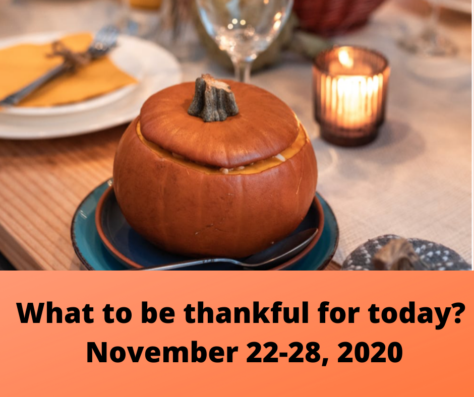 What to be thankful for today- Main