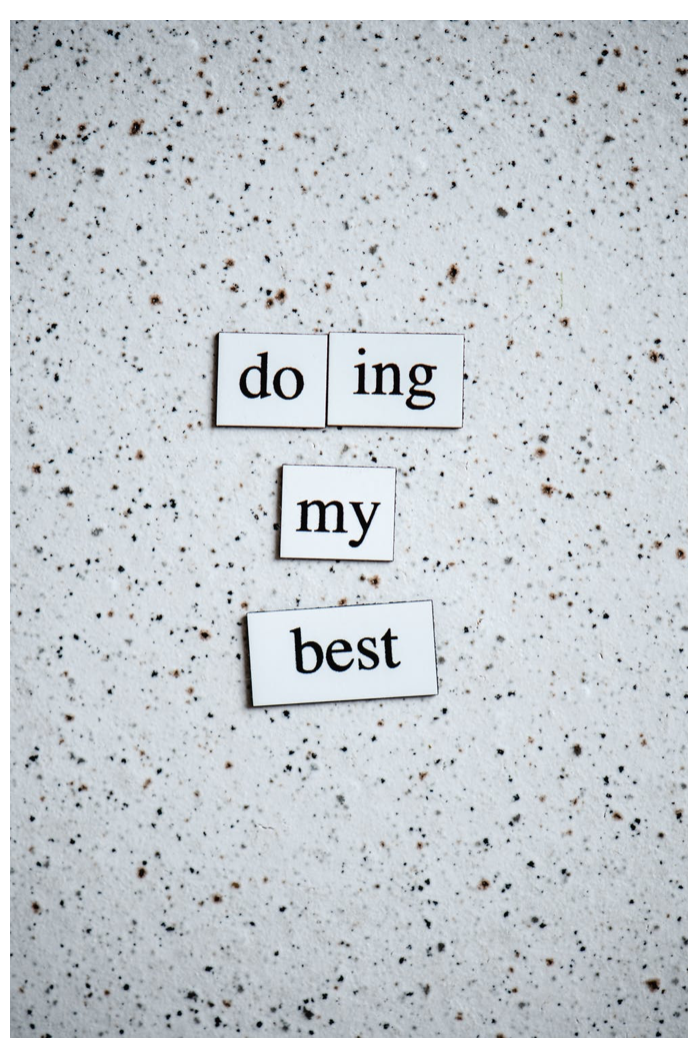 Why staying positive is important- doing my best